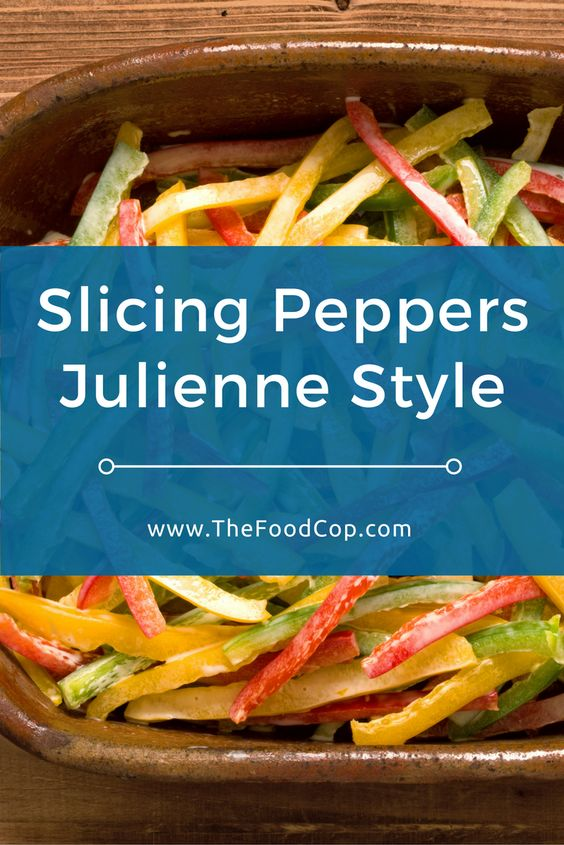 Learn how easy it is to slice peppers julienne style without making a mess with the seeds. Click to read through. via @thefoodcop