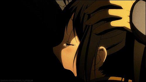 Hijikata and Chizuru kiss gif