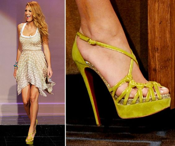 Blake Lively in Christian Louboutin at the 'Tonight Show with Jay Leno' in Burbank, California. June 15, 2011. | MTV Photo Gallery