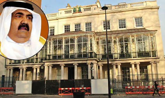 Yours for £200m: The 17-bedroom mansion renovated by Qatar royal family which is set to become Britain's priciest property