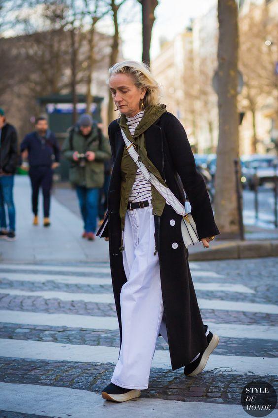 Lucinda Chambers Street Style Street Fashion Streetsnaps by STYLEDUMONDE Street Style Fashion Photography: