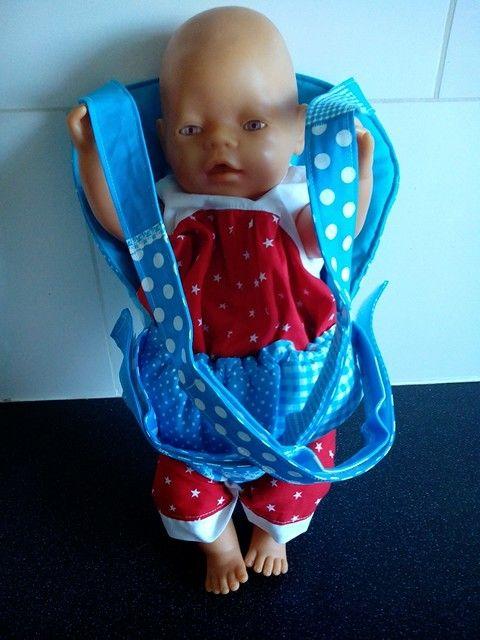 Buikdrager voor o.a. babyborn™ Ook in andere kleuren te maken.
