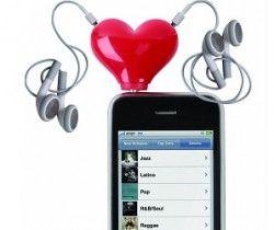 heart headphone splitter <3