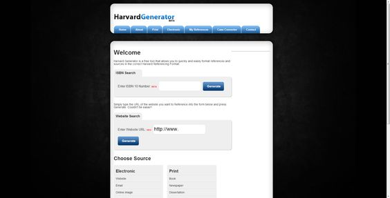 Harvard referencing generator essay writer