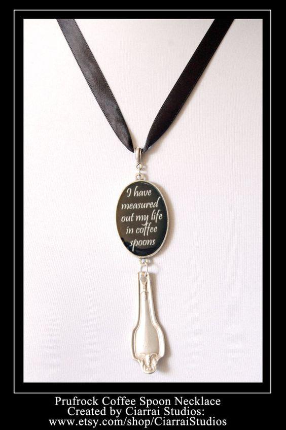 Prufrock Coffee Spoon Pendant. $38.00, via Etsy.