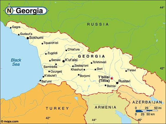 Location Of Georgia In World Map MAPS OF GEORGIA COUNTRY - Georgia map world