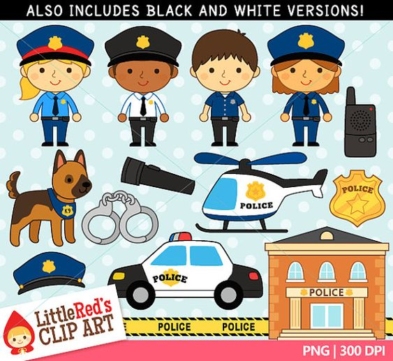 Police Clipart And Lineart Personal And Commercial Use Clip Art Kids Police Police