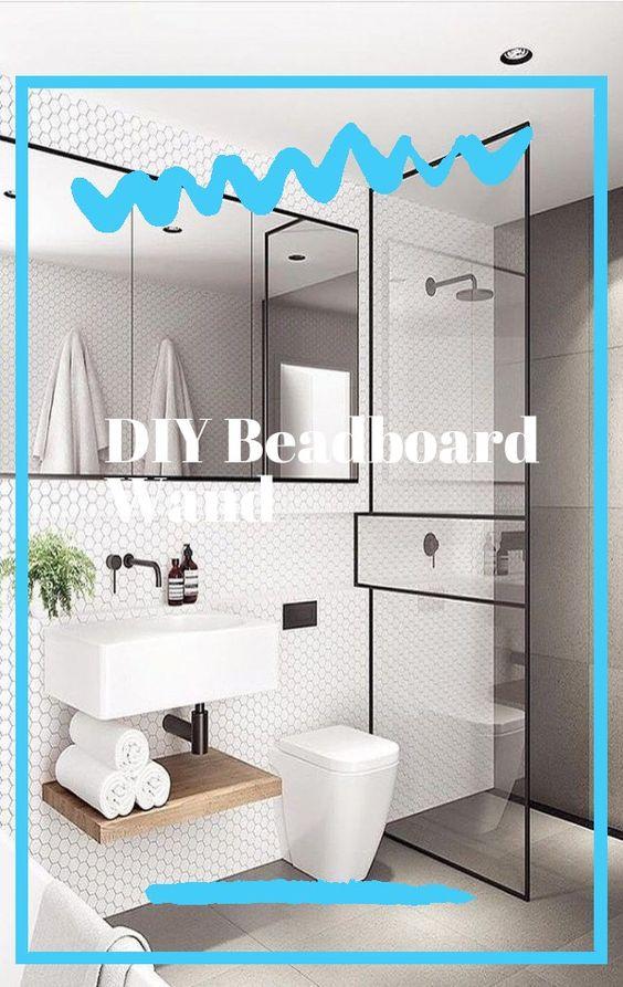 Diy Wie Man Keramikfliesen Malt Farmhouse Living Bathroom In 2020 Bathroom Color Schemes Elegant Bathroom Bathroom Tiles Combination