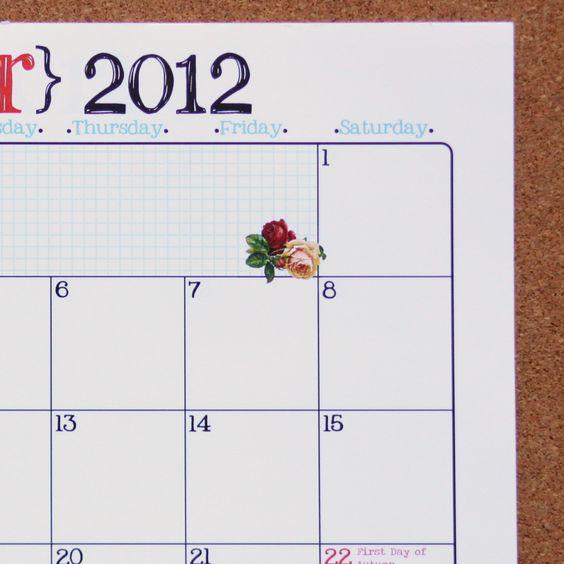 {FRIDGE} Calendar | Much Ado About You