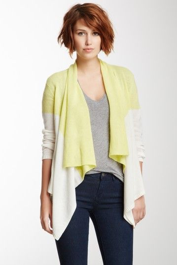 Magaschoni Two-Tone Cashmere Cascade Cardigan by Non Specific on @HauteLook