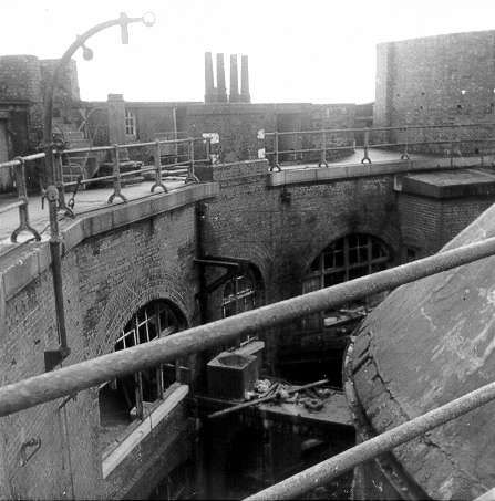 View down into Horse Sands Fort 1969