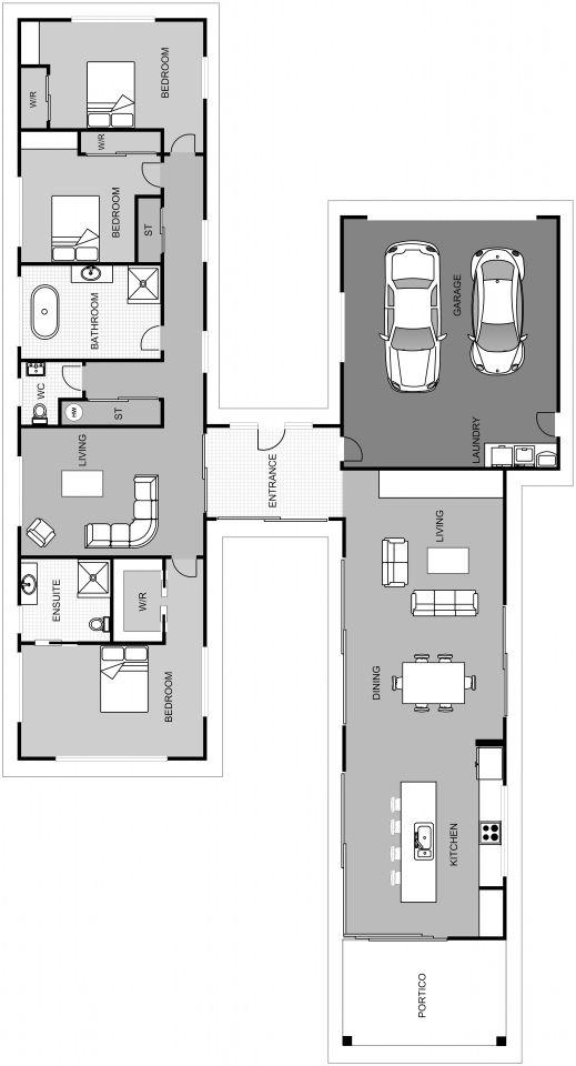 Tasman Floorplan 228m2 Design Build Building Design Modern House Floor Plans Floor Plans