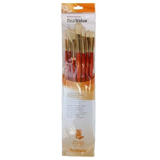 Princeton Art Brush Co Realvalue Bristle Brush Set Michaels