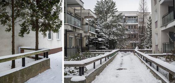 Osiedle Zamojskiego-jedyne takie w Polsce...Bloki otaczają przydomowe ogródki (fot. Filip Springer)