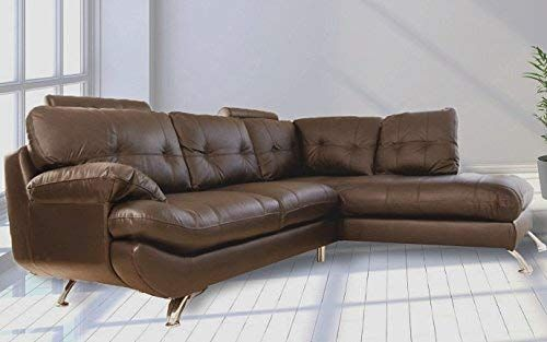 Sandy Corner Sofa Faux Leather Right Hand Side Brown Amazon Co Uk Kitchen Home Amazon Associate Link Corner Sofa Sofa Sectional Couch