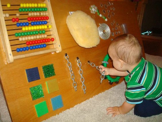 Toys For Adults With Dementia : Sensory board for children play with special needs