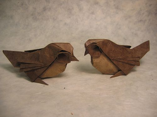 Origami Kids webiste. Sparrows by PhillipWest.: