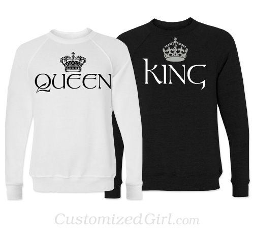 Matching Couple Shirts , King and Queen heeheee what are the chances of getting the hubs