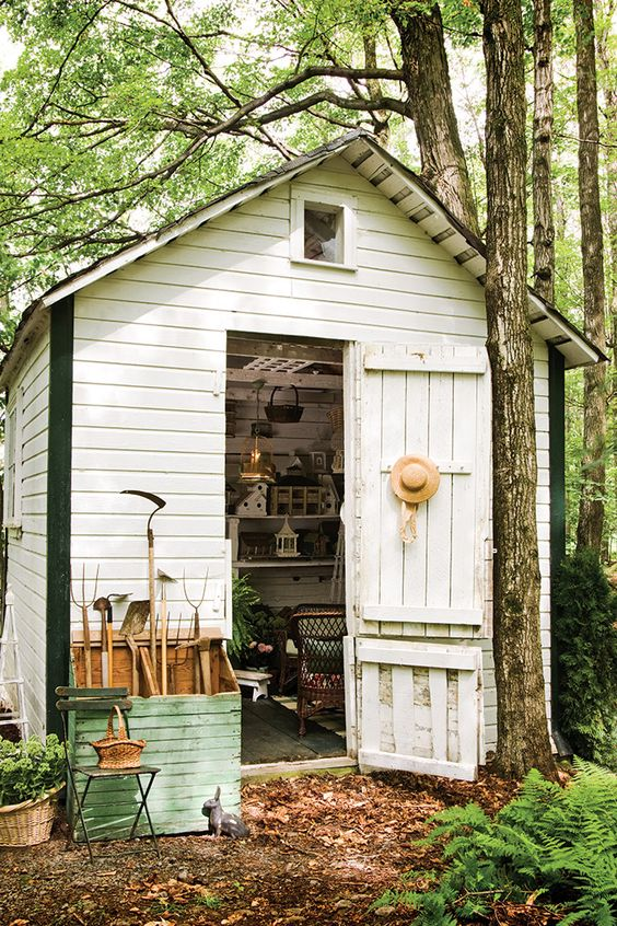 Potting Shed Front View: