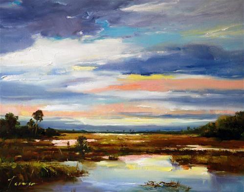 "Daily Paintworks - ""Marsh"" - Original Fine Art for Sale - © Teresa Yoo"