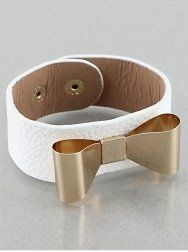 #cybermonday #stockingstuffer #jewelry  Designer Inspired Gold & White Band Bow (Ribbon) Bracelet. Size : 8.5 Inch Value Line,http://www.amazon.com/dp/B00CXADPNE/ref=cm_sw_r_pi_dp_i6qNsb0R6ZRGB3PQ
