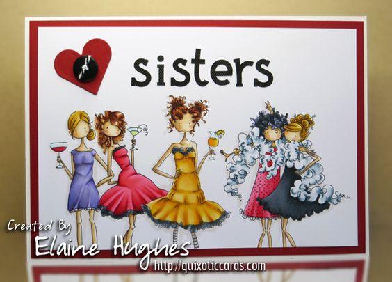 Stamping Bella - Uptown Girls - www.quixoticcards.com/blog