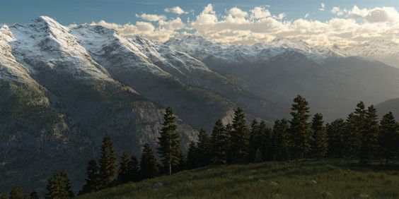 #Schnee, #Kunst, #Bäume, #Wald, #Landschaft, #Gipfel, #Gebirge, #Hügel, #Fichte, #Kämme