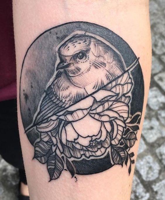 Anki Michler bird tattoo