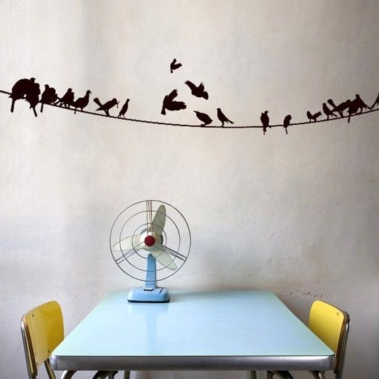 wall art home decor murals vinyl decals stickers murals birds on powerline