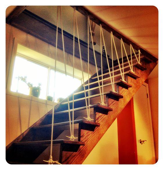 rampe descalier en cordage à bateau!  a dékø  pinterest