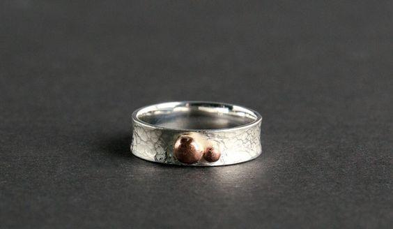 Ring; 925/_ Silber und Kupfer