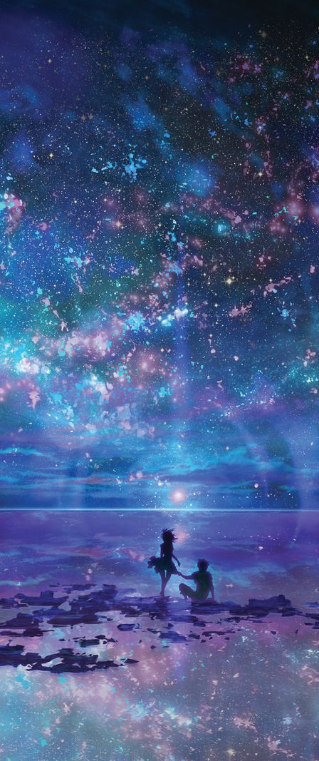 Ocean, Stars, Sky, and You by muddymelly (detail)