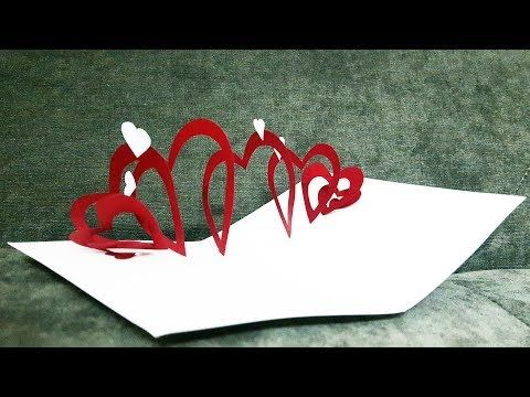How To Make A Spiral Heart Pop Up Card Card Pop Up Tutorial Youtube Pop Up Card Templates Heart Pop Up Card Diy Pop Up Cards