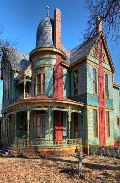 Old blue farm house with round cupola abandoned for Victorian cupola