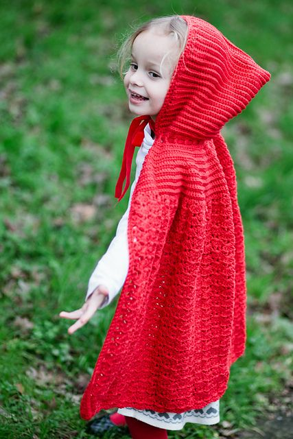 Free Crochet Patterns Red Riding Hood : Ravelry: Little Red Riding Cape pattern by Liz Mouter ...