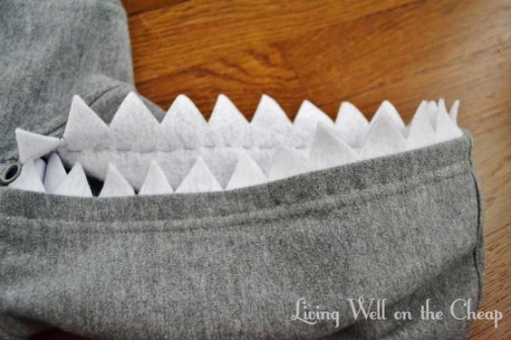 Easy and Inexpensive DIY Shark Costume | Living Well on the Cheap
