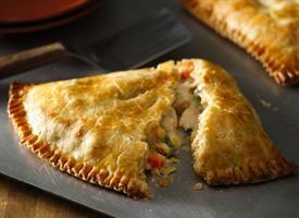 Easy weeknight chicken pot pie turnovers