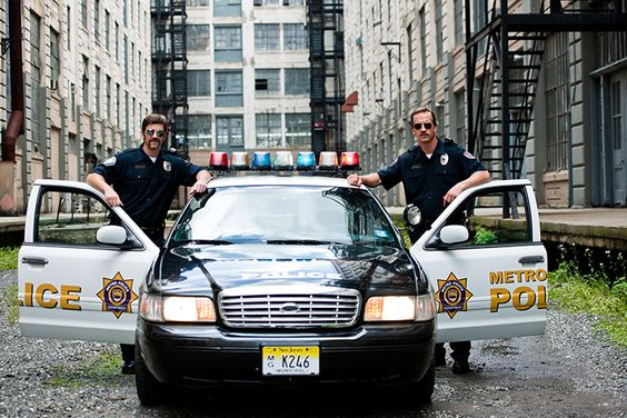 The Manning brothers in...Football Cops!