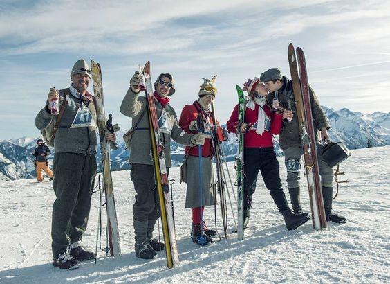 Letztes Wochenende in #ZellamSee: Spaß, Liebe und Glück beim #Nostalski, dem größten Nostalgie-Skirennen in Europa. #skiwasser, #einkehrschwung, #skihasen, #skibunny, #skihasendoping, Foto: @_camwork_