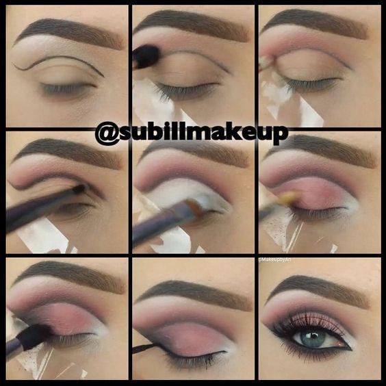 ⚪Passos para uma #make perfeita   nos olhos!