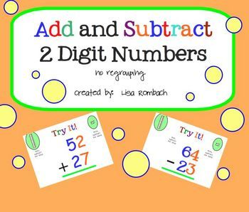 Add Subtract 2 Digit Numbers No Regrouping SmartBoard Lesson ...