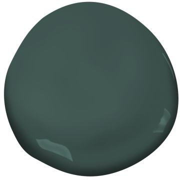 Benjamin Moore Tarrytown Green is a wonderfully deep green. #paintcolors #benjaminmooretarrytowngreen