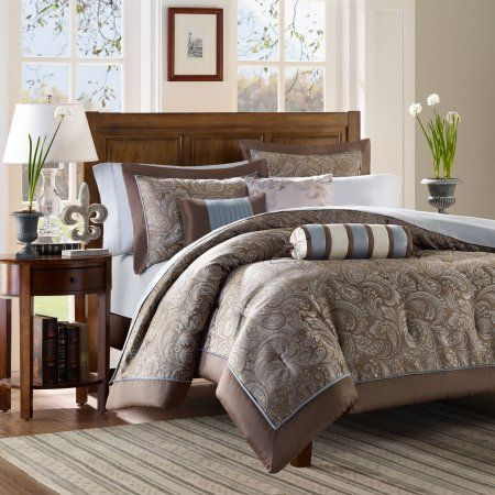 Home Essence Charlotte 6-Piece Duvet Cover Set, Brown