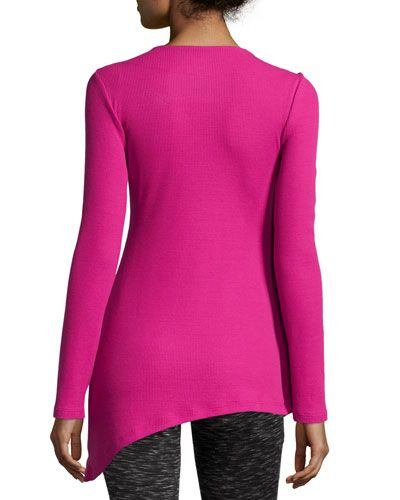 TBFBX Marc NY Performance Asymmetric Thermal Tunic, Mulberry