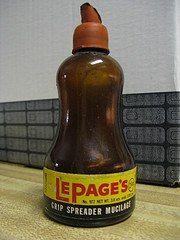 old school glue bottle