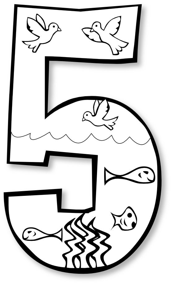 gods creation coloring pages day 2 creation day 5 birds fish 3 year old