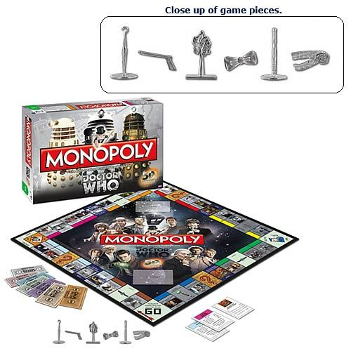 Doctor Who Collector's Edition Monopoly Board Game: 50Th Anniversary, Collector S Edition, Board Games, Toys Games