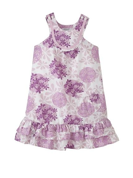 Tiered Floral Print Dress