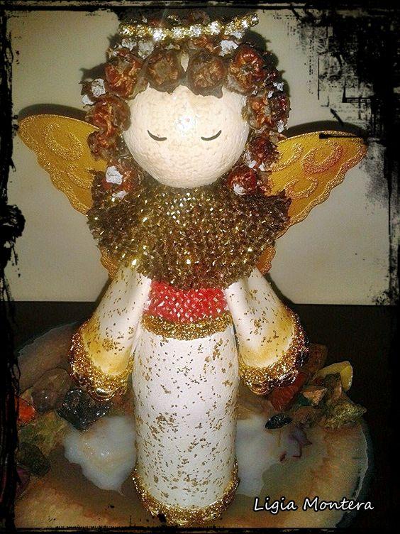 anjo garrafa natal