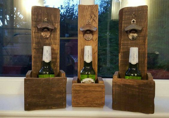 Check out this item in my Etsy shop https://www.etsy.com/uk/listing/255081524/rustic-handmade-wooden-beer-bottle